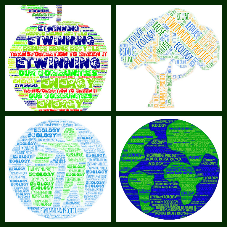 eTwinning project Transformation To Green IT - word cloud