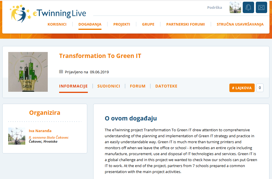 eTwinning Live Event Transformation To Green IT
